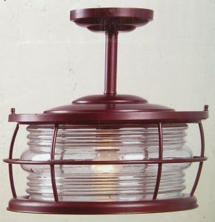 Hampton Bay Harbor Convertible Semi Flush Mount Exterior Light 317839