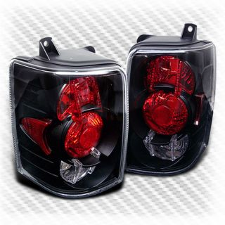 93 98 Jeep Grand Cherokee Black altezza Tail Lights Rear Brake Lamp Pair New Set