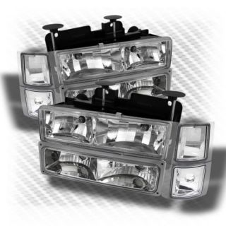 Chevy C K Tahoe Suburban Silverado Blazer Headlights Corner Bumper Head Lights