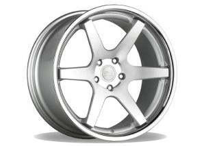 "20"" Ford Mustang GT Concept One CS6 6 0 Concave Silver Staggered Wheels Rims"