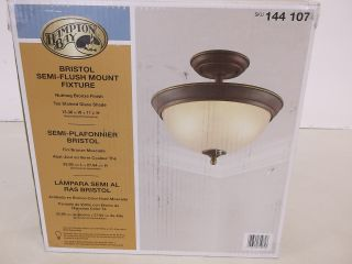 Hampton Bay Bristol Collection Nutmeg Bronze Semi Flushmount Light 144107