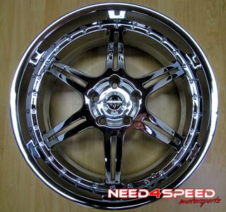 "20"" Stern St 2 20x9 5 Chrome 5x120 BMW M5 M6 Wheel Rim"