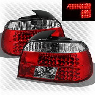 1997 2000 BMW E39 5 Series LED Tail Lights Lamps Rear Brake Pair Taillights Set