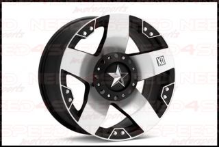 "17"" XD Rockstar XD775 Machine Wheels Rims Fits Jeep Grand Cherokee Commander"