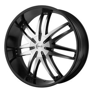 22 inch Helo Black Wheel Rims 5x5 5x127 Jeep Wrangler Grand Cherokee Commander