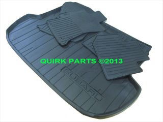2014 Subaru Forester Black All Weather Floor Mats Rear Cargo Tray New