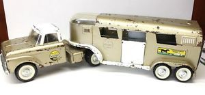 Vintage 1960's Nylint 6300 Ford Horse Van Semi Trailer with Dome