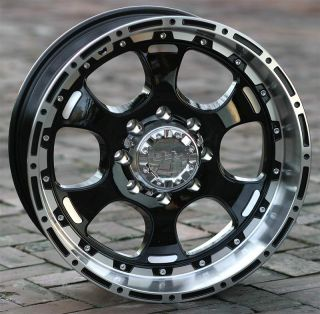18 inch Black Helo 842 Wheels Rims Chevy GMC HD 8 Lug