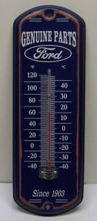 Genuine Ford Parts Thermometer Metal Sign Celsius Fahrenheit