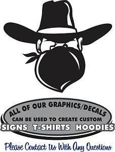 Cowboy Outlaw Western Sticker Decal 4 Laptop Horse Trailer Window Auto Scrapbook