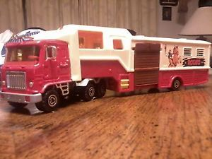 Vintage Majorette Rodeo Truck Trailer with 4 Horse'S