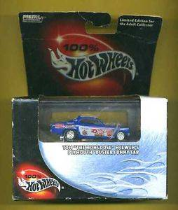 "New in Box Hot Wheels Tom ""The Mongoose"" Mcewens's Plymouth Duster Funny Car"