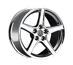 "18"" Chrome Speedster Wheels 5x4 5 Rims 18x9 1994 2013 Ford Mustang Saleen"