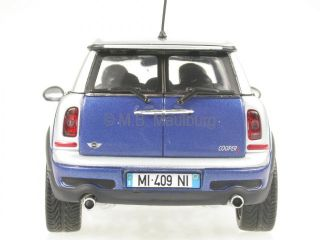 Mini Cooper s Clubman Blue Diecast Model Car Minichamps 1 43