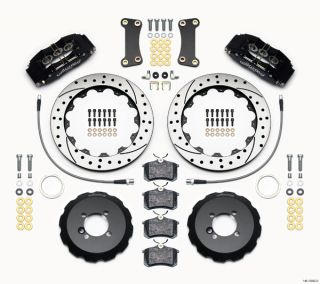"Wilwood Disc Brake Kit Mini Cooper 13"" 11 75"" Drilled Rotors Black Calipers"