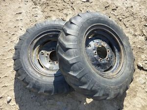 Economy Power King 1614 Tractor Good Year 7 50 16 Rear Tires Rims
