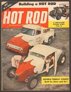 May 1954 Hot Rod Magazine A Merc Roadster Ford F 100 Boston Rods