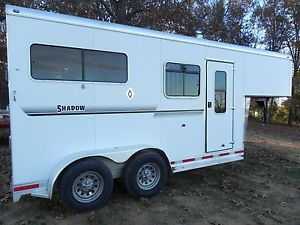 2008 Shadow 2 Horse Goosneck Trailer Straight Load