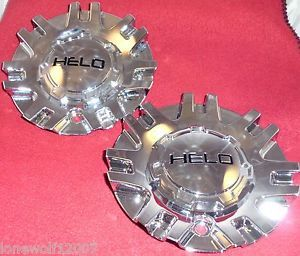Helo Wheels Chrome Custom Wheel Center Cap Caps Set of 2 494L158