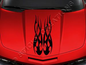 143 Hood Tribal Flame Decal Graphic Sticker Car Truck