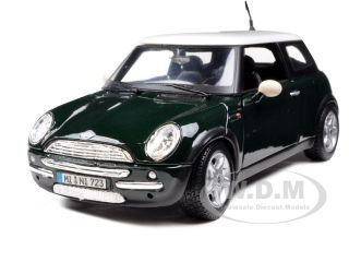 Mini Cooper Green 1 24 Diecast Model Car by Maisto 31219