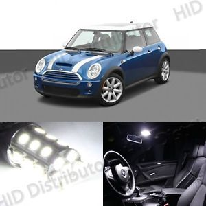 7 Bulb White LED Interior Light Package SMD Kit Mini Cooper