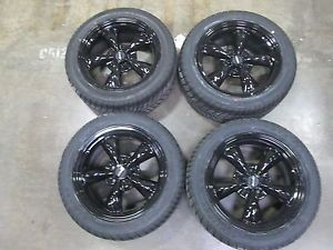 Bullitt Solid Black Mustang Wheel Sumitomo Tire Kit 17x8 94 04 All