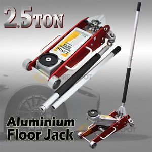 2 5 Ton Low Profile Aluminum Floor Racking Jack Hydraulic Double Plunger Compact