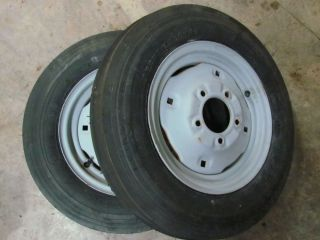 Power King Economy Farmall Cub Front 4 00x12 Wheels Tires Rims