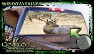 Elk Rear Window Graphic Vinyl Decal Tint Truck Car