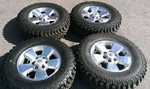 "17"" Toyota Tacoma Polished Rims BFG Mud Terrain T A Tires Tundra Sequoia T100"