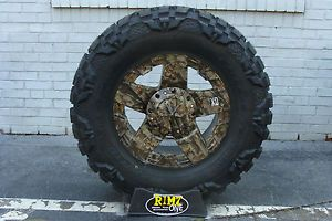 "20"" 20x12 XD Rockstar Wheels G1 Camo 40x15 50R20 Nitto Mud Grappler 40"" Tires"