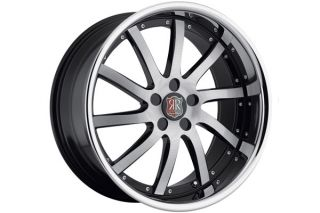 "19"" Ford Mustang GT Roderick RW4 Machined Concave Staggered Rims Wheels"