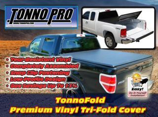 Tonneau Cover Tonnopro Tri Fold Truck Bed Made to Custom Fit Over 100 Trucks