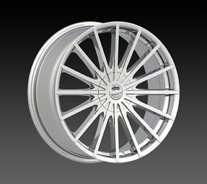 "Borghini B 22 Chrome 18"" Wheels Rims Tires Fit Accord Sentra Altima Civic Camry"