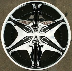 "Akuza Big Papi 712 22"" Chrome Rims Wheels Cadillac Escalade 99 Up"
