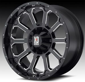 "20"" x 9"" KMC XD806 Bomb Rims w 37x13 50x20 Toyo Open Country MT Tires Wheels"