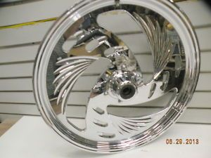 "Chrome Billet Front Wheel 21"" Harley Sportster Dyna Custom Chopper 84 99 3 4 AXL"