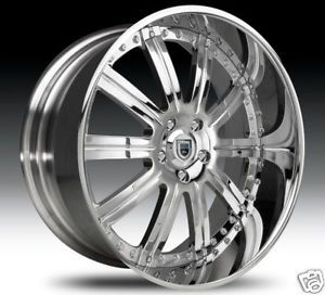 "26"" asanti 26 inch AF134 AF 134 Chrome Multi 2 Piece Rims Wheels Tires Package"