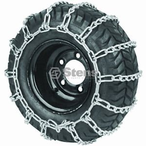 2 Link Tire Chain 8x12 23x850x12 Snow Mud Lawn Mower Tractor ATV 1 Pair