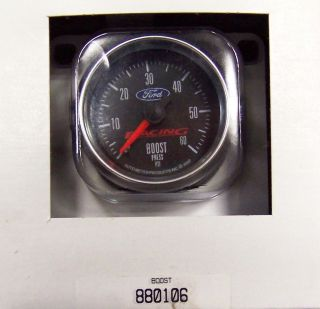 "Autometer Ford Racing 0 60 PSI Mechanical Boost Gauge 2 1 16"" Turbo Diesel 52"