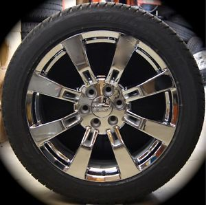 New GMC Yukon Sierra Denali Cadillac Escalade Chrome 22 Wheels Rims Tires CK375R