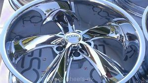 "20"" 22"" Staggered FOOSE Legend Chrome Wheels Chevrolet Chevelle SS Impala Camaro"
