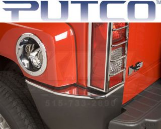 Putco 402314 2005 2009 Hummer H3 Chrome Rear Bumper Cover Trim Accessories