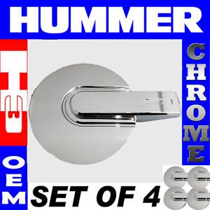 4pc Set Hummer H3 H 3 Chrome Rim Lug Nut Steel Alloy Wheel Skin Center Hub Cap