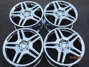"18"" Mercedes CL55 AMG Factory Chrome Wheels CL500 CL600 S55 S430 S500 17 19"
