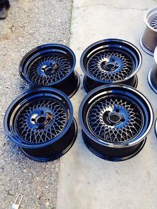 New 15x8 Enkei 92 Gloss Black Mesh Rims 4 100 Honda Acura Civic Integra