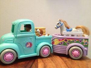 Fisher Price Sweet Streets Country Farm Truck Trailer Horse Complete Accessories