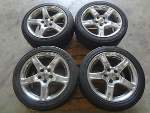 "JDM Toyota Aristo V300 Lexus GS300 GS400 GS430 98 Chrome 17"" Rims Wheels"