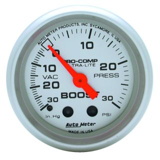 Auto Meter 4303 Ultra Lite Mechanical Boost Vacuum Gauge